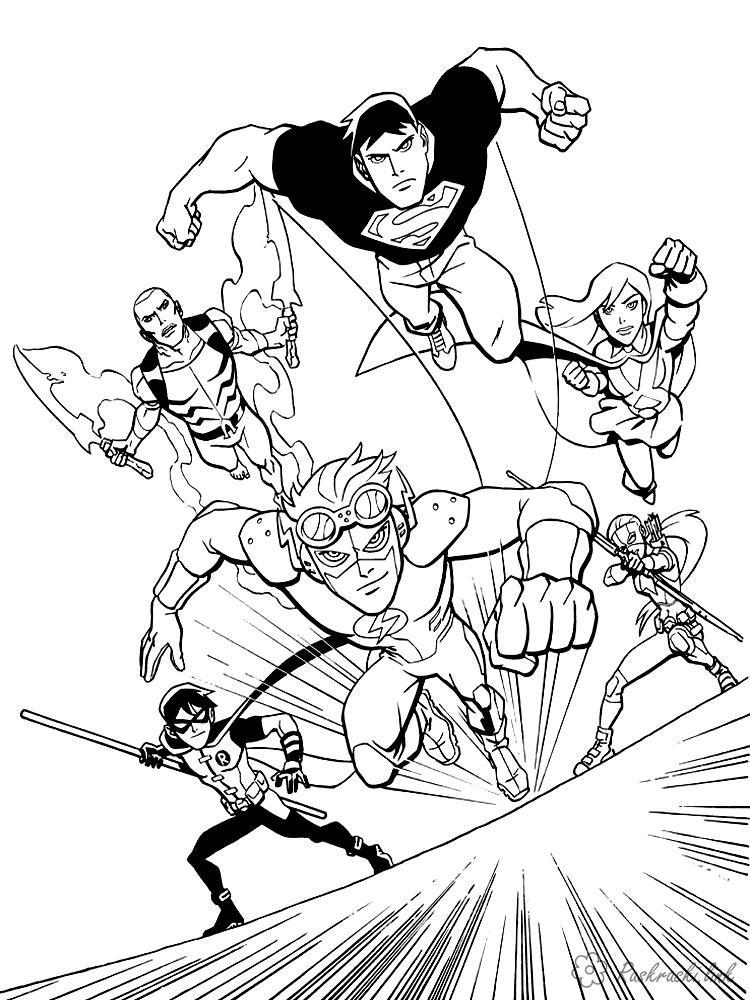 супергерои Раскрашивать раскраски для мальчиков