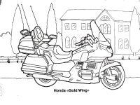 Мотоцикл honda gold wing Распечатать раскраски для мальчиков