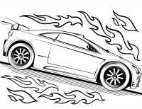 Супер спортивное авто Распечатать раскраски для мальчиков