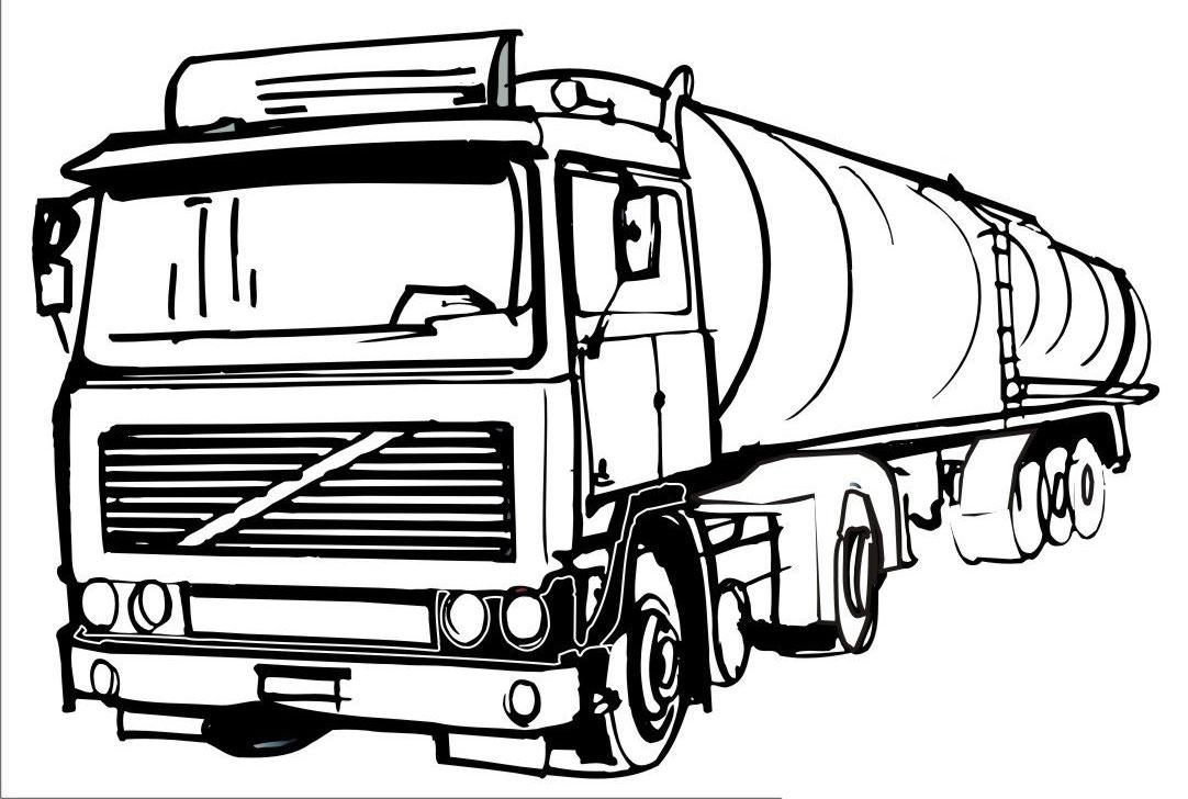 Грузовик с цистерной грузовик цистерна Раскраски для детей ...