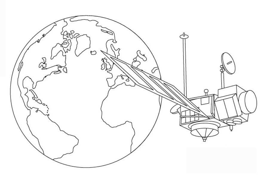 Космический спутник земли Раскраски для мальчиков