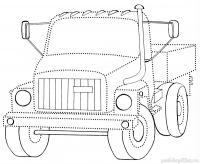 Раскрась грузовик Раскраски для мальчиков