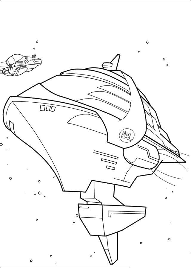 Космические корабль Раскраски для мальчиков