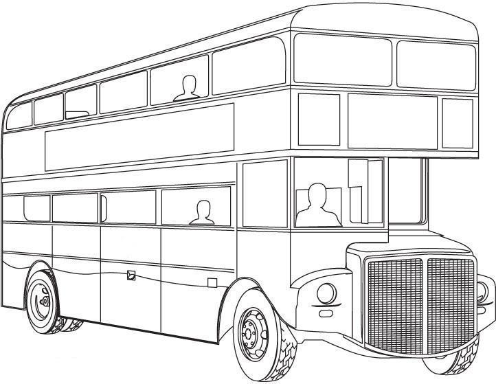 Двухэтажный автобус Скачать раскраски для мальчиков
