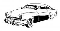 Машина 50-х Скачать раскраски для мальчиков