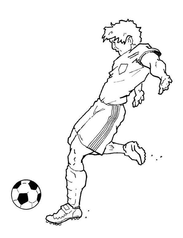 Футбол Раскрашивать раскраски для мальчиков