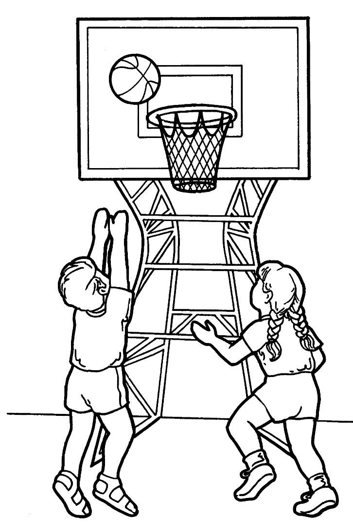 Раскраски по баскетболу