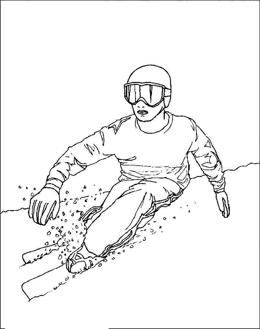 зимние виды спорта зимний спорт дети лыжи коньки распечатать