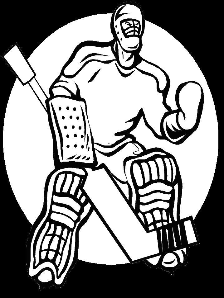 Вратарь по хоккею Скачать раскраски для мальчиков