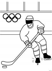 Хоккей на олимпиаде Раскрашивать раскраски для мальчиков