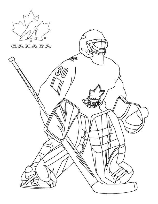 Канадский хоккеист Скачать раскраски для мальчиков