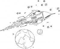 Американская ракета Раскраски для детей мальчиков