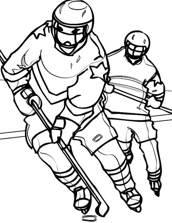 Хоккей Скачать раскраски для мальчиков