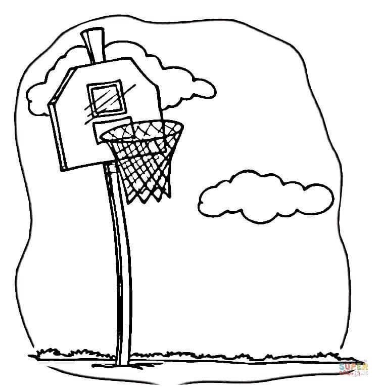 баскетбольное кольцо кольцо баскетбол щит облака распечатать