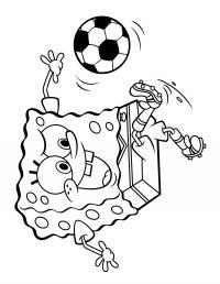 Спанч боб футболист Раскрашивать раскраски для мальчиков