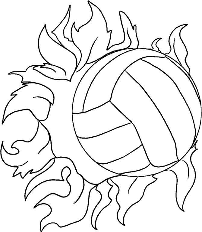 Волейбольный мячик Раскрашивать раскраски для мальчиков