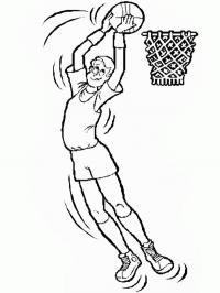 Высокий баскетболист Раскраски для мальчиков