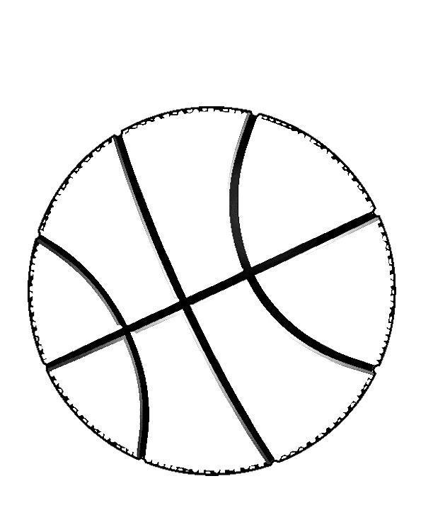 Баскетбольный мяч Раскраски для мальчиков