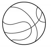 Баскетбол мяч Раскраски для мальчиков