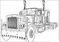 Трансформер грузовик Раскрашивать раскраски для мальчиков