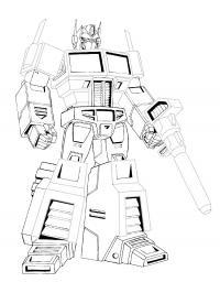 Трансформеры с оружием Раскраски для мальчиков