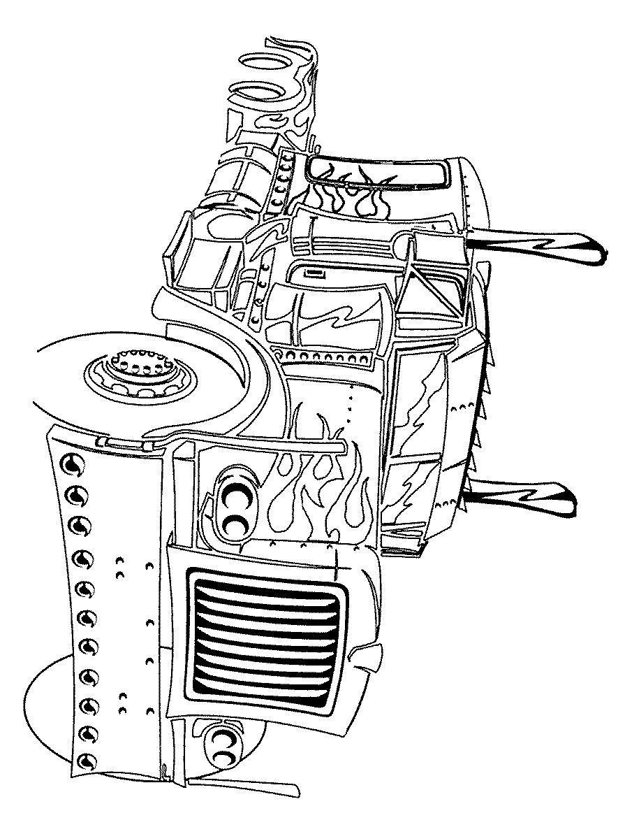 Трансформер огненный грузовик Раскраски для мальчиков