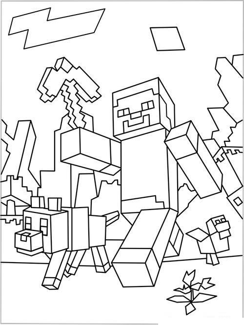 майнкрафт роботы майнкрафт игра раскраски распечатать
