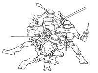Черепашки ниндзя мультик Раскраски для детей мальчиков