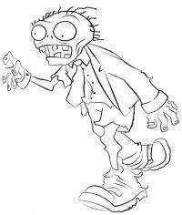 Зомби бежит Распечатать раскраски для мальчиков