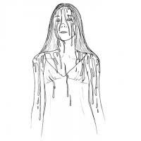 Зомби-девушка Распечатать раскраски для мальчиков