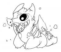 Зомби-собачка Распечатать раскраски для мальчиков