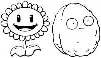 Зомби цветок Распечатать раскраски для мальчиков