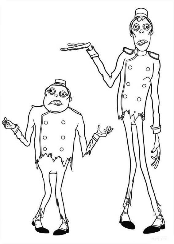 Зомби дворецкие Распечатать раскраски для мальчиков