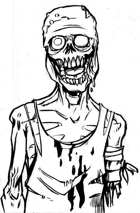 Зомби в тряпках Распечатать раскраски для мальчиков
