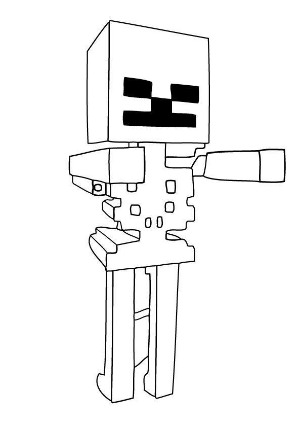 Майнкрафт скелет Скачать раскраски для мальчиков