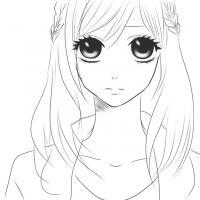 Аниме девушка с большими глазами Раскрашивать раскраски для мальчиков