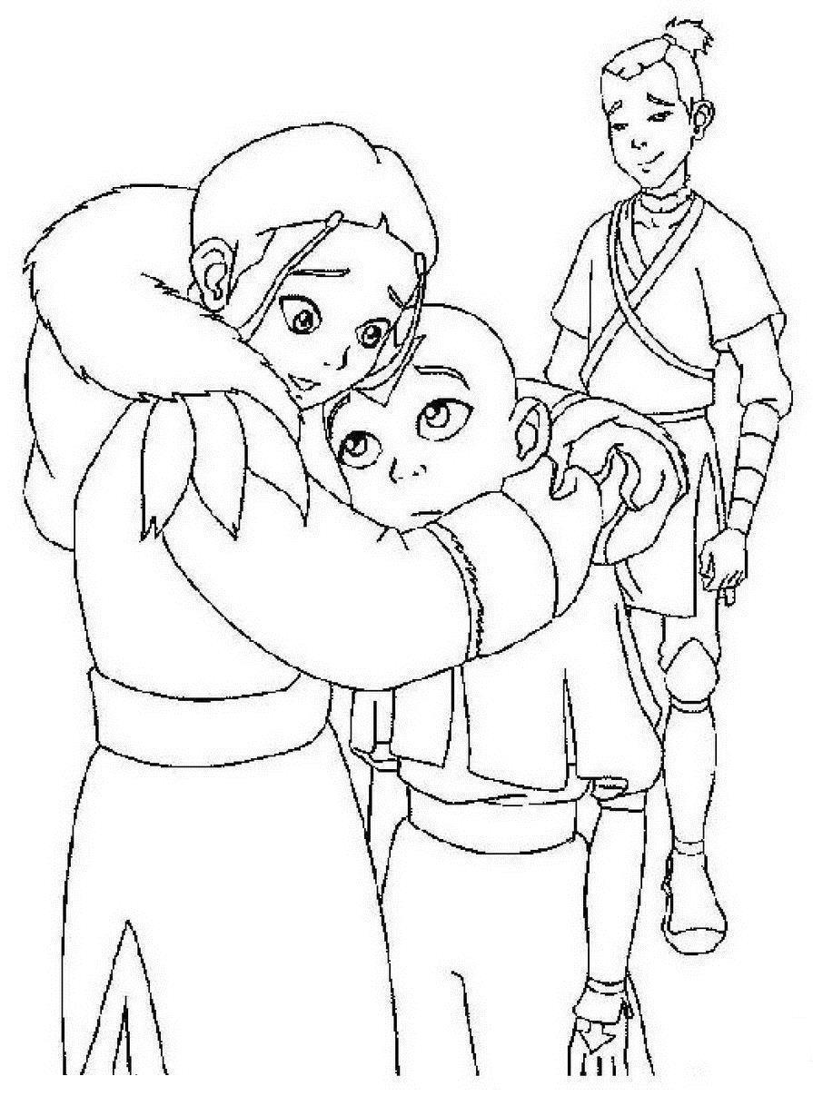 Аниме аватар раскраски Раскрашивать раскраски для мальчиков