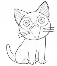 Аниме котеночек Раскраски для мальчиков