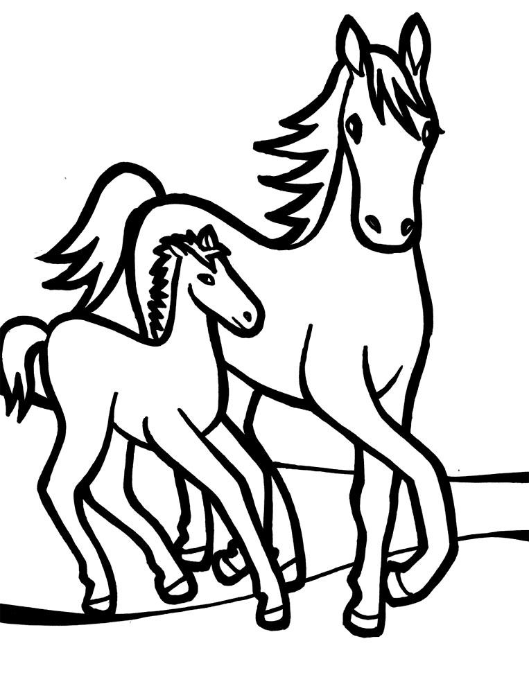 Лошадь и жеребенок гуляют лошадь жеребенок прогулка ...