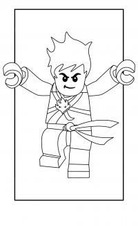 Самурай лего в кимано Раскраски для мальчиков бесплатно