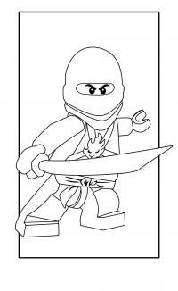 Самурай в маске Раскраски для мальчиков бесплатно