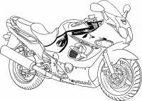 Спортивные мотоциклы Раскрашивать раскраски для мальчиков