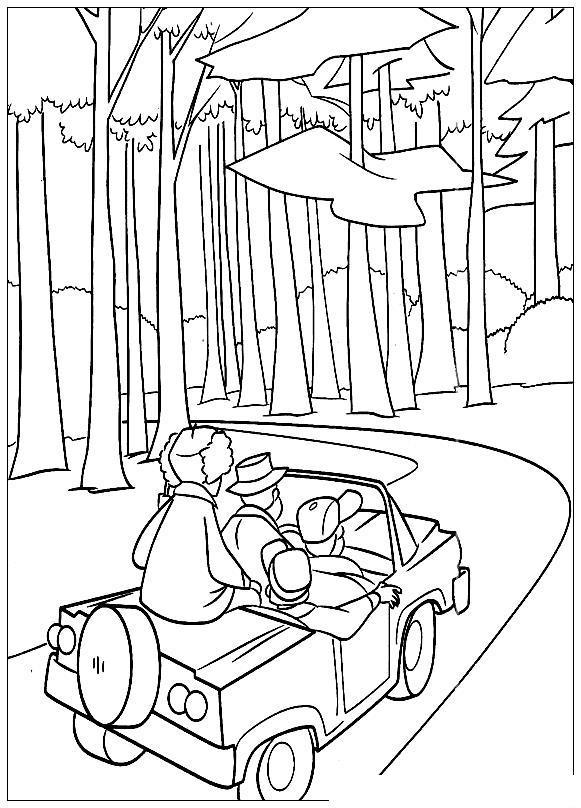 Поездка на охоту Раскраски для мальчиков