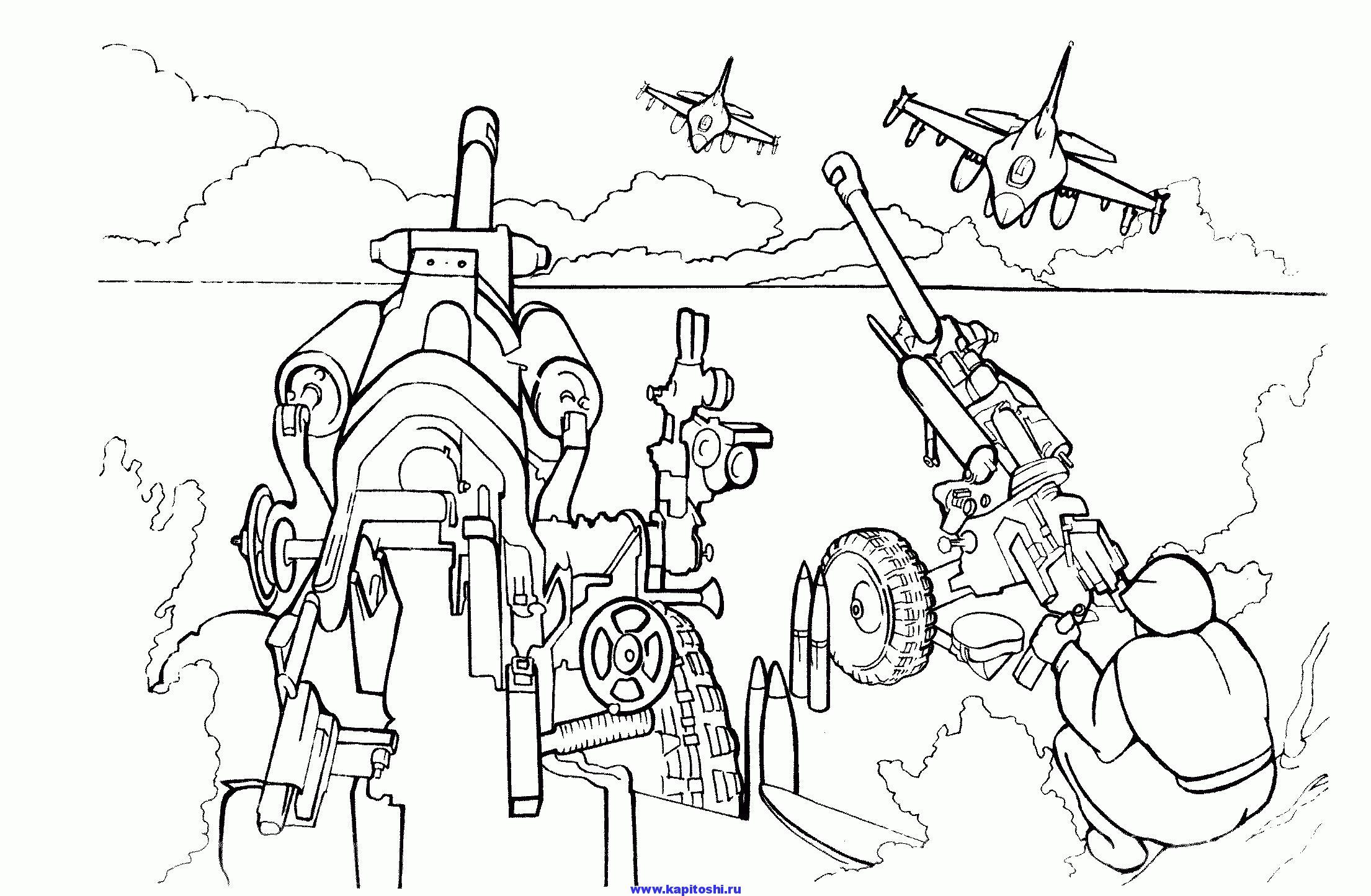 Пушки пво Раскрашивать раскраски для мальчиков