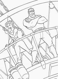 Охотники на корабле Раскрашивать раскраски для мальчиков