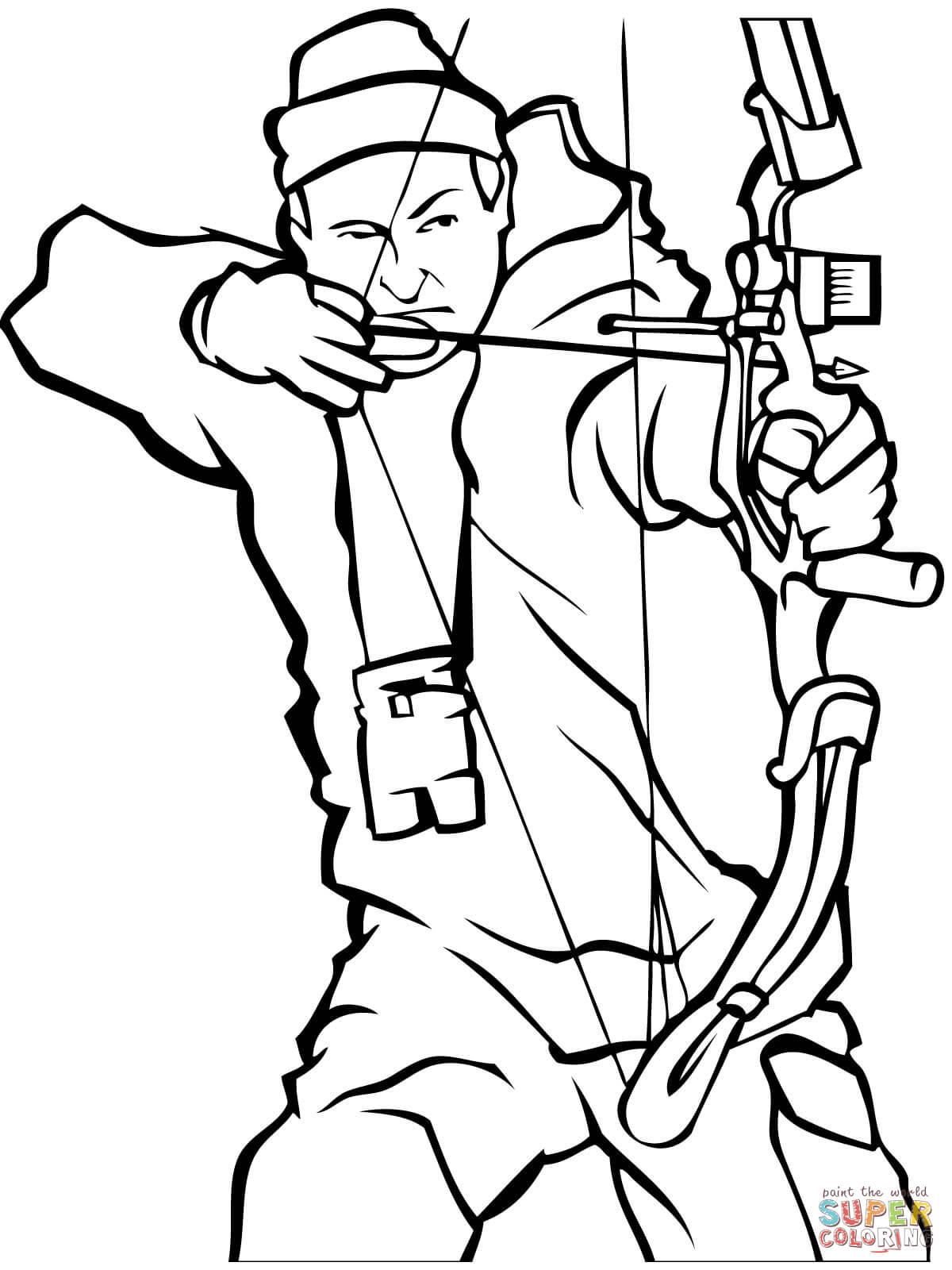Охота с луком Раскраски для мальчиков