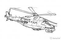 Боевой вертолет Раскраски для мальчиков бесплатно