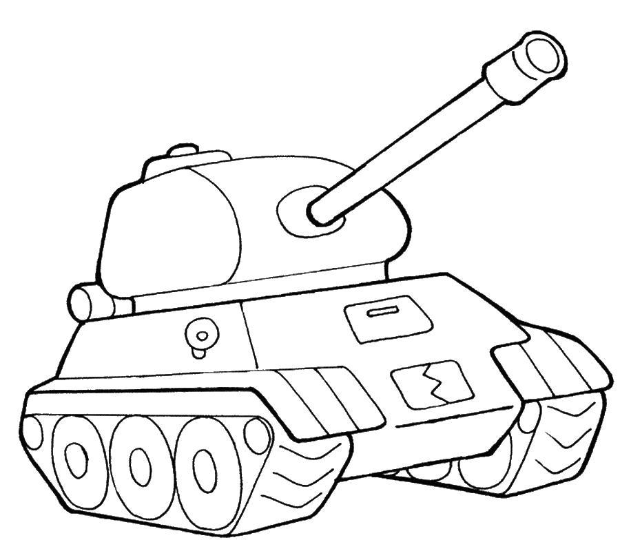 Раскраски для мальчиков танк распечатать