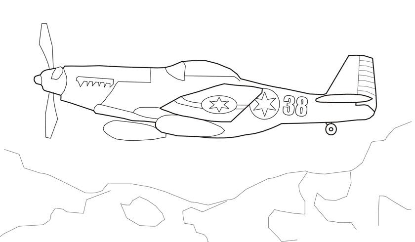 Самолет в небе Раскрашивать раскраски для мальчиков