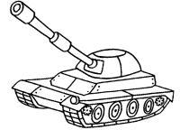 Пушка на танке Раскраски для мальчиков
